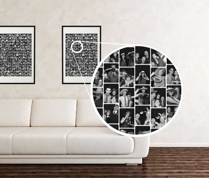 Take your event home with you! Create breath taking wall art from those silly and adorable images.